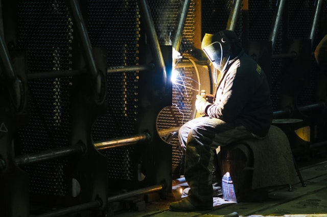 Man doing welding work